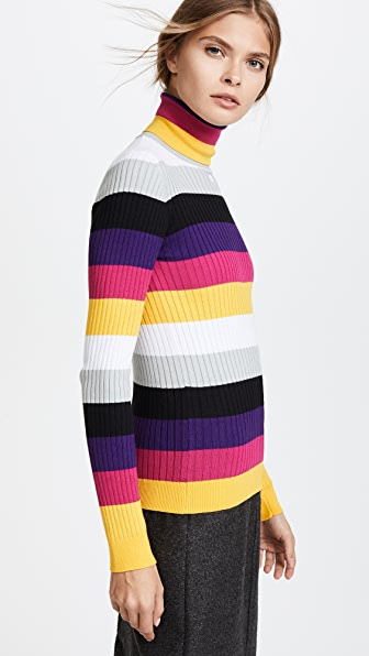Courreges Striped Turtleneck