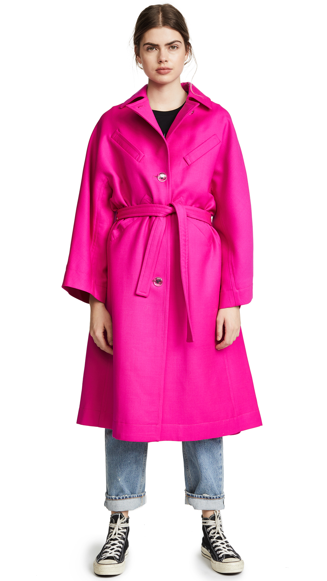 Courrèges OVERSIZED TRENCH COAT