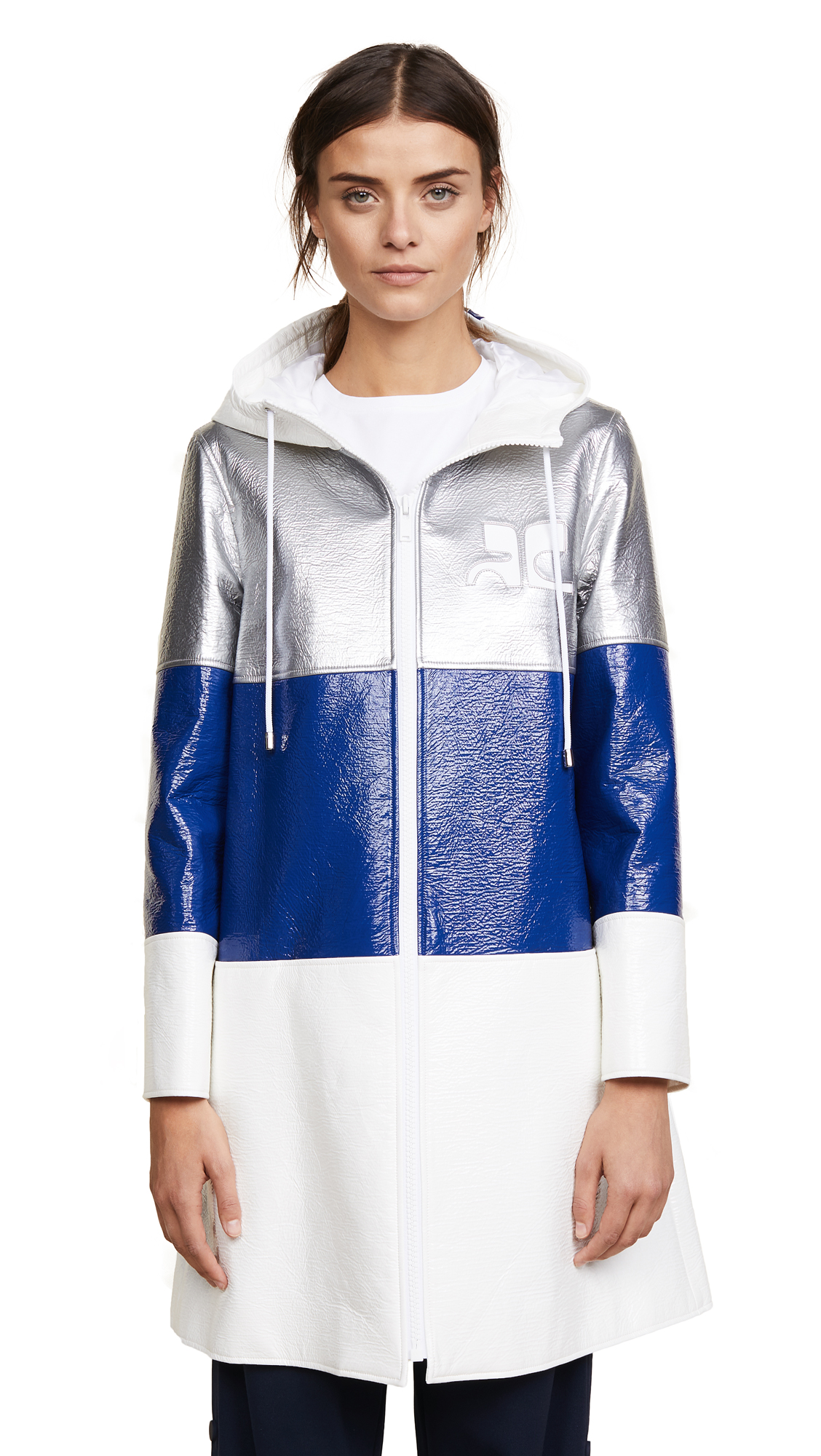 Courreges Three Bands Hooded Coat
