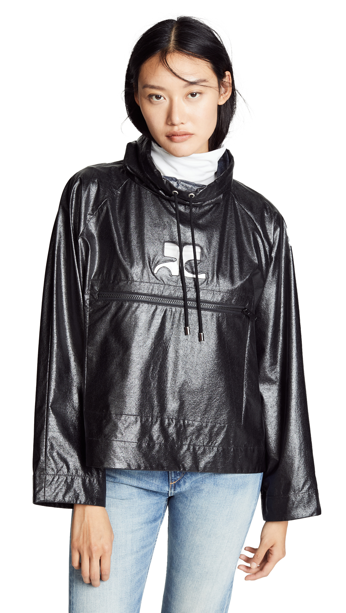 Courreges Waterproof Vinyl Jacket - Black
