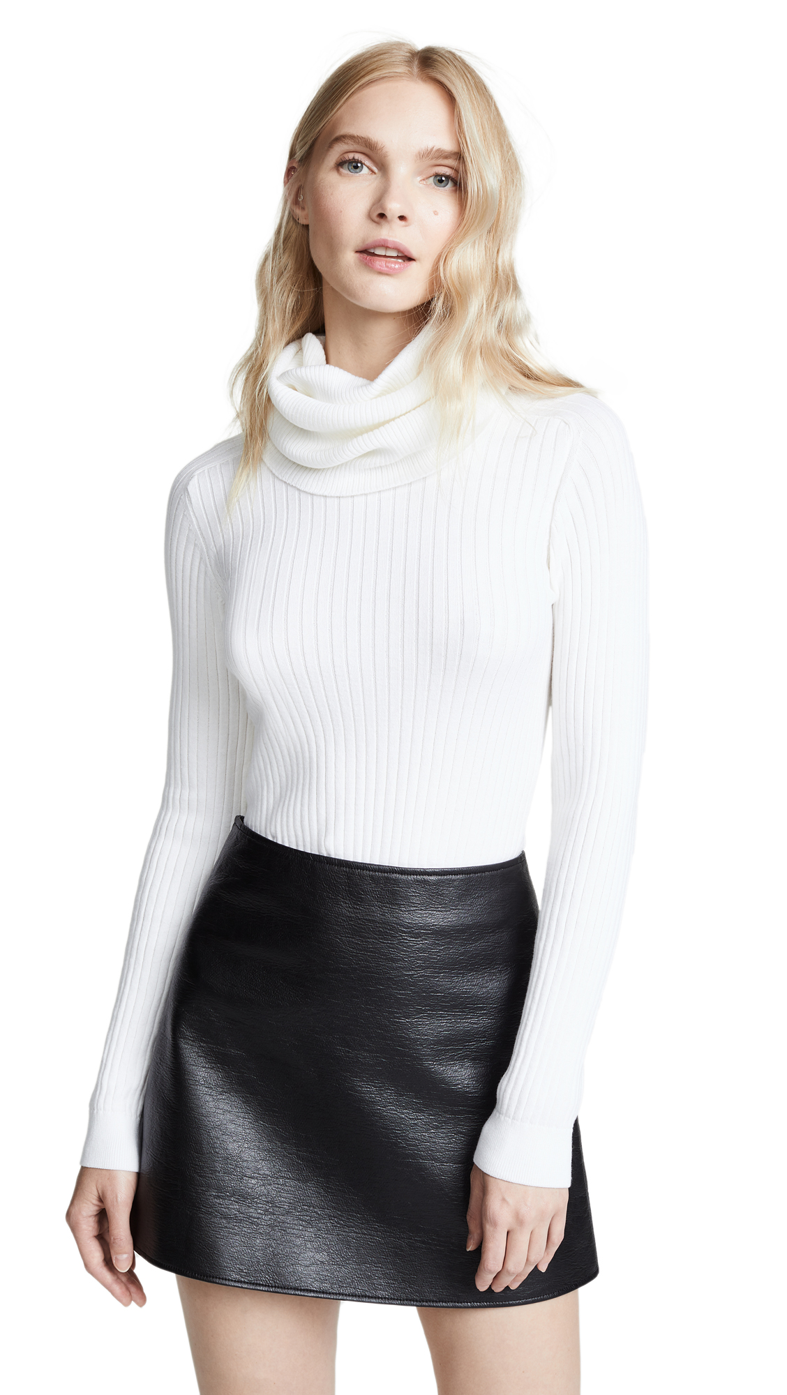 Oversized Cowl Neck Sweater, Off-White