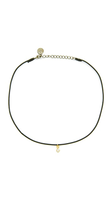 Cloverpost Leather Choker Necklace