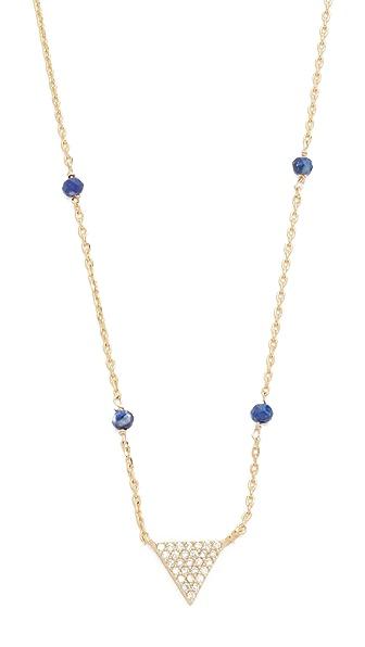 Cloverpost Gem Triangle Necklace