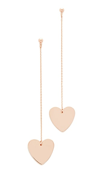 Cloverpost Heart String Earrings