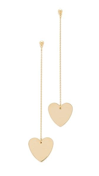 Cloverpost Heart String Earrings