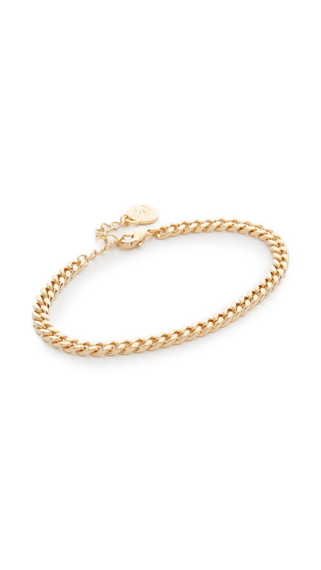 Cloverpost Large Curb Chain Bracelet - Gold
