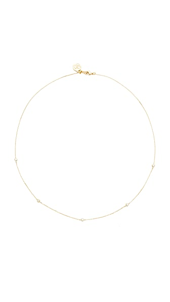 Cloverpost Scroll Necklace - Gold