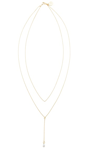 Cloverpost Tear Slope Necklace In Gold