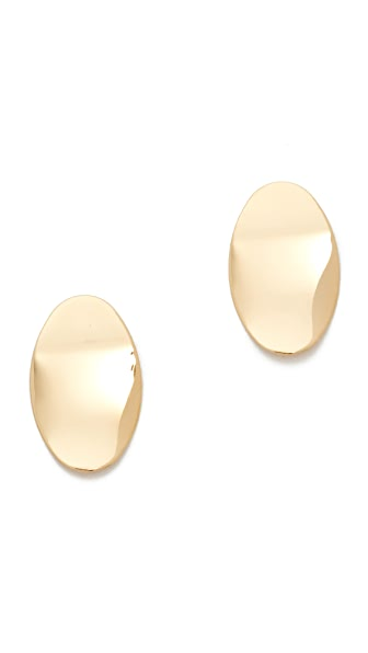 Cloverpost Badge Earrings - Gold