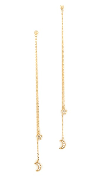 Cloverpost Night Whirl Earrings In Gold