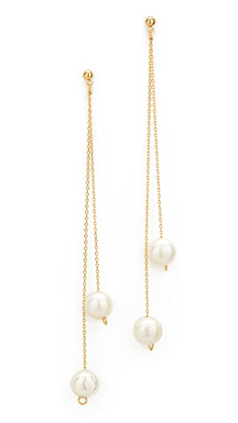 Cloverpost Freshwater Cultured Pearl Whirl Earrings In Gold