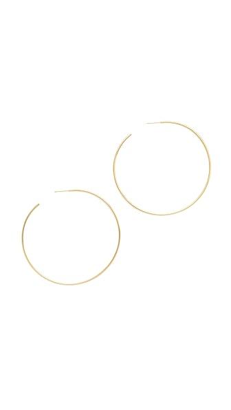 Cloverpost Large Circuit Hoop Earrings - Gold