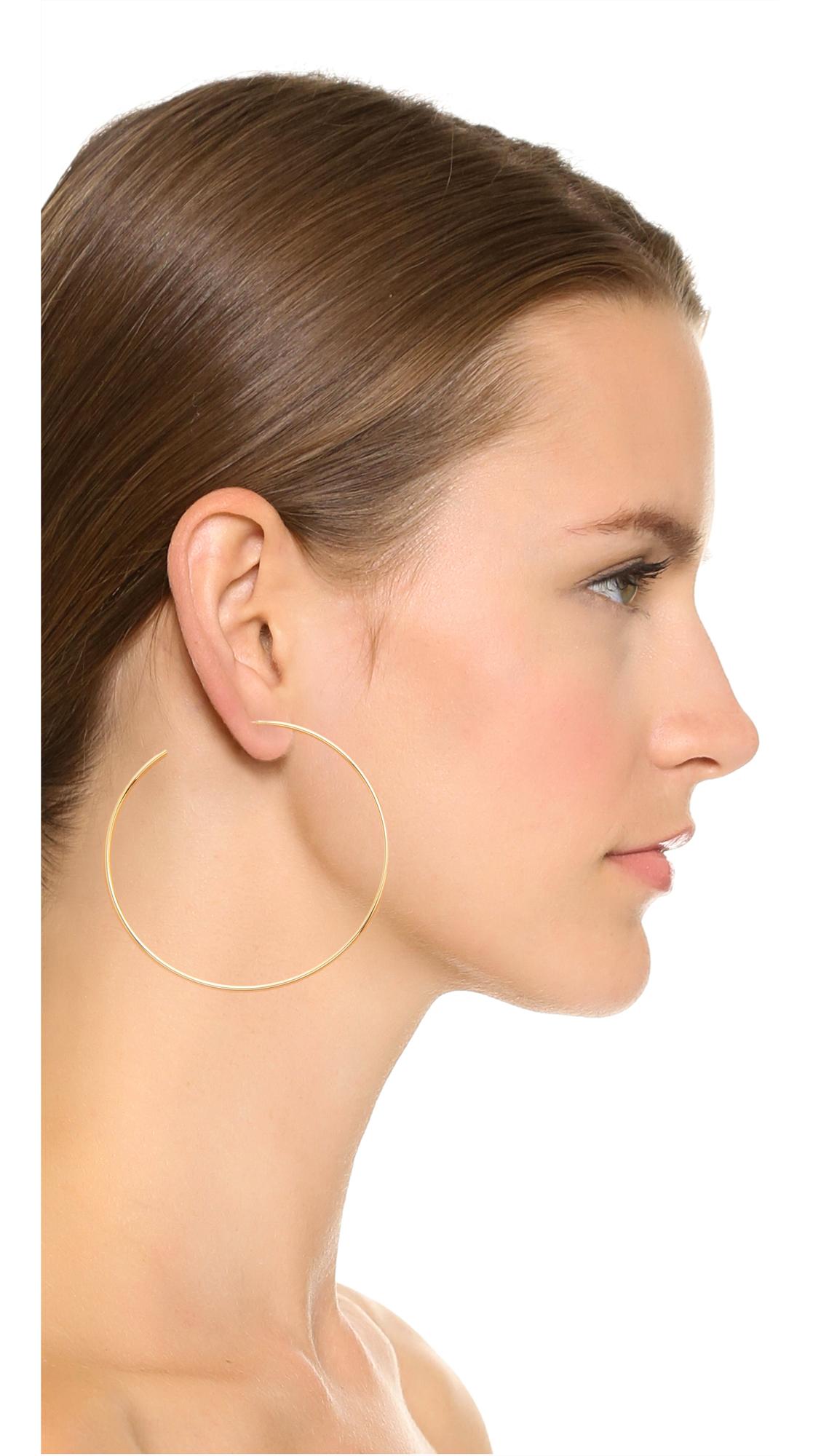 Cloverpost Large Circuit Hoop Earrings aovrJ