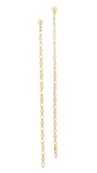 Cloverpost Pop Zip Earrings In Gold/White