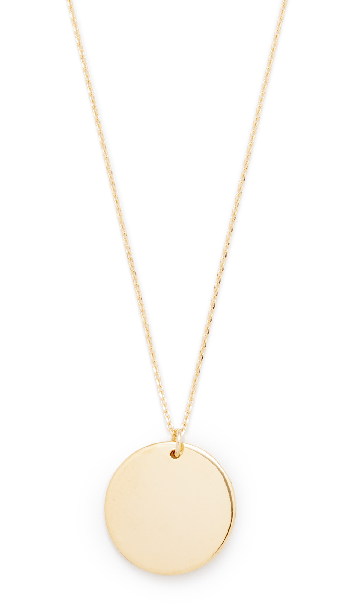 Cloverpost Circle Medallion Necklace - Gold