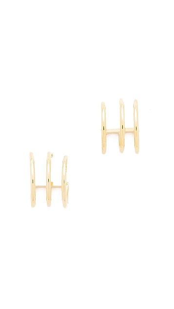 Cloverpost Mini Roll Earrings