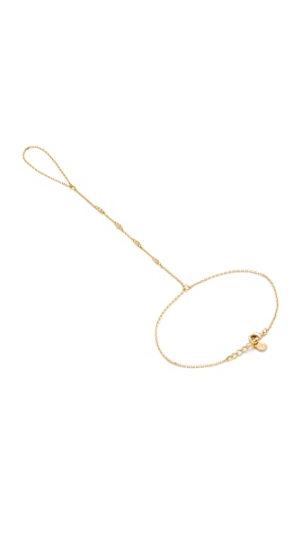 Cloverpost Symmetry Hand Chain In Gold/Clear