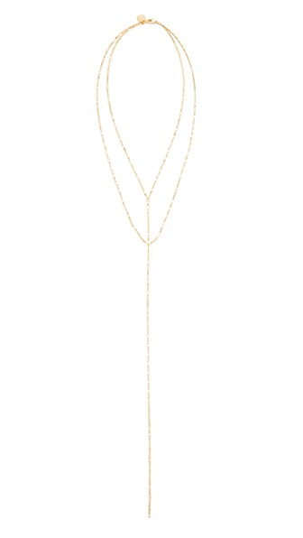 Cloverpost Twinkle Drape Necklace - Yellow Gold