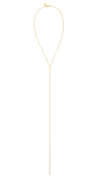 Cloverpost Skip Excess Tight Lariat Necklace - Yellow Gold