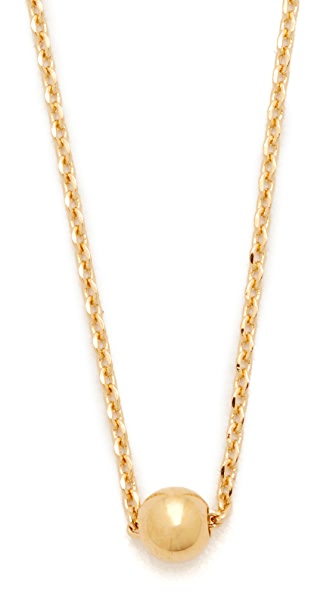 Cloverpost Globe Necklace - Yellow Gold