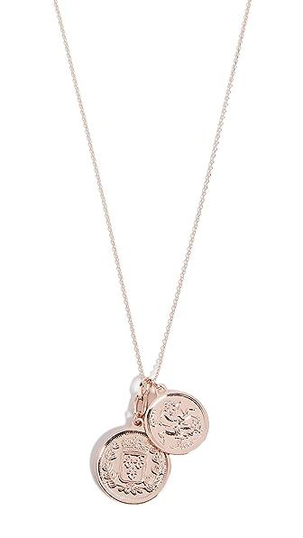 Cloverpost Peek Necklace In Rose Gold