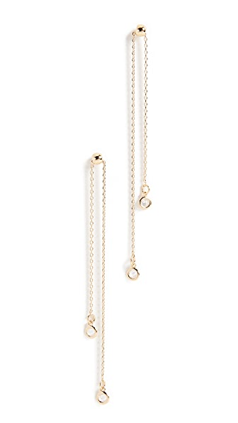 Cloverpost Totter Earrings In Yellow Gold