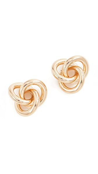 Cloverpost Fortune Earrings In Yellow Gold