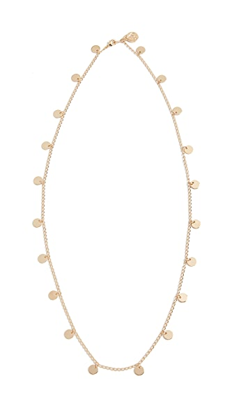 Cloverpost Cycle Necklace In Yellow Gold
