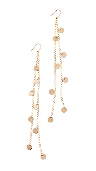 Cloverpost Cycle Earrings In Yellow Gold