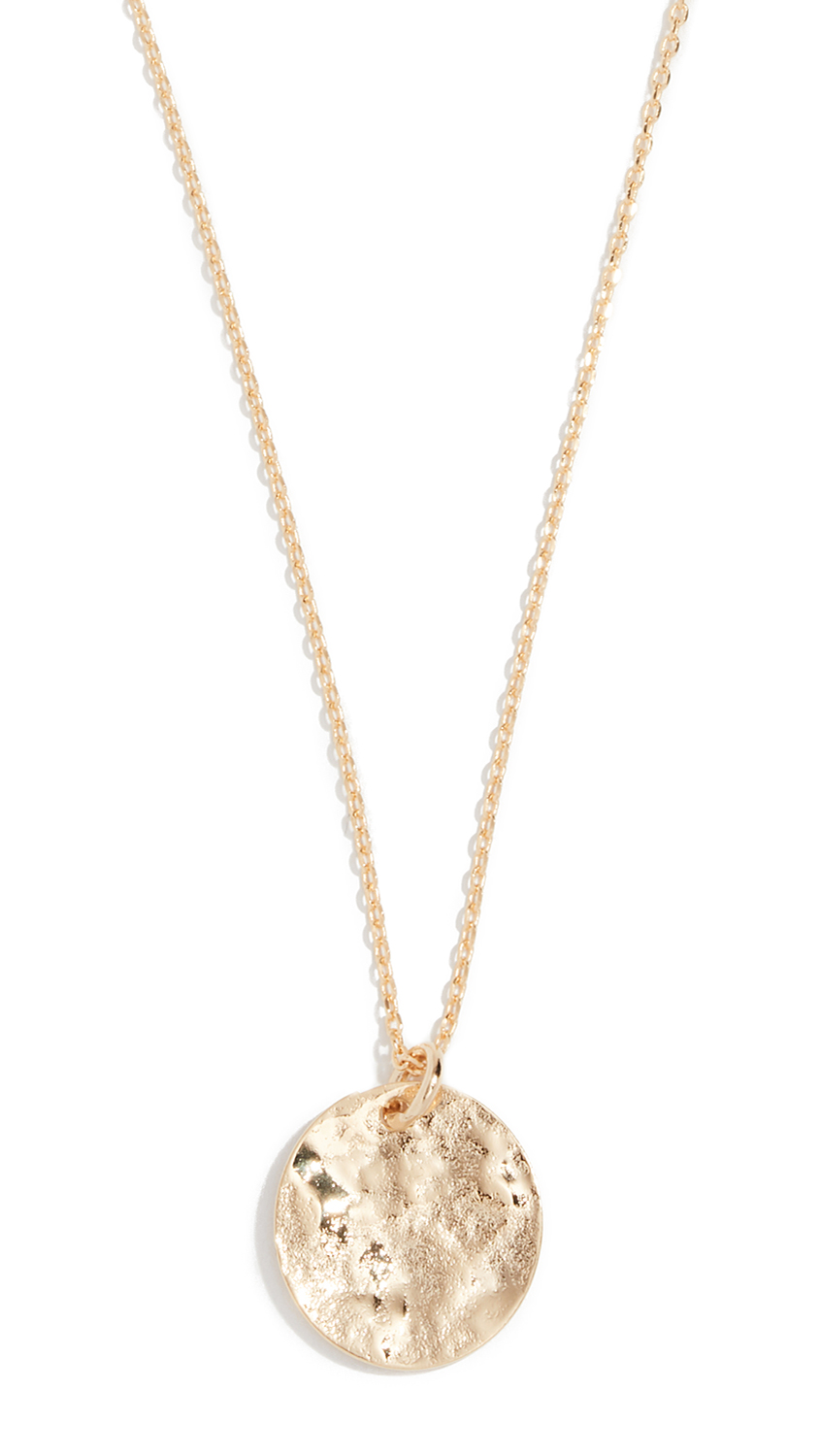 CLOVERPOST Stipple Necklace in Yellow Gold