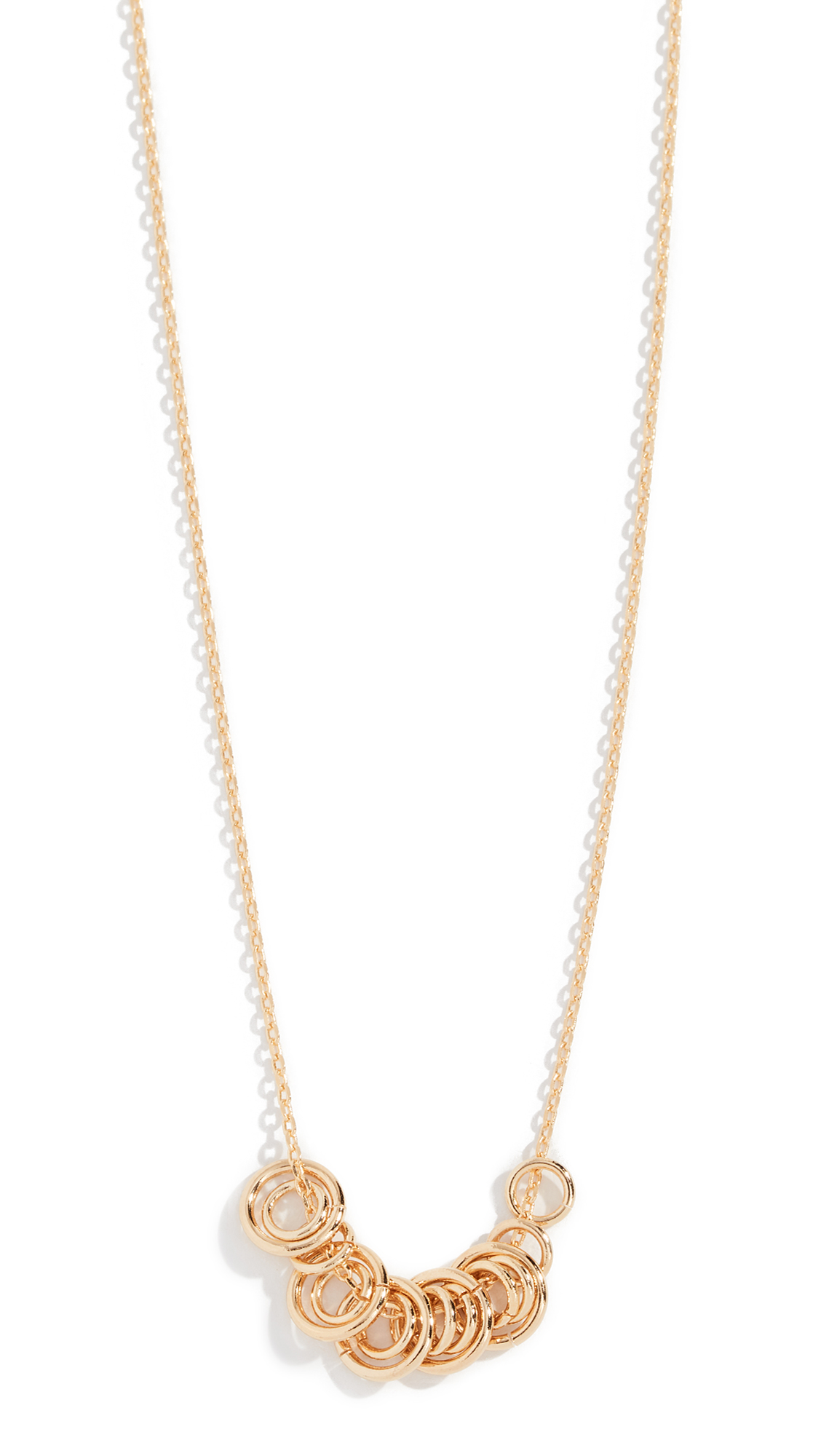 CLOVERPOST Net Necklace in Yellow Gold