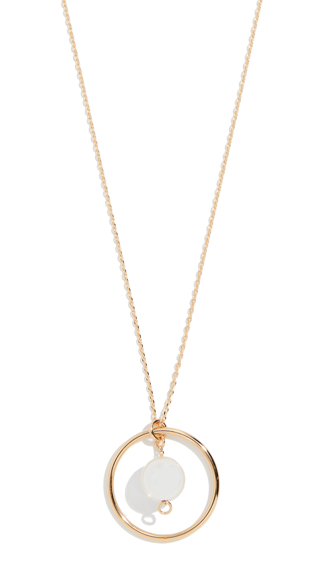 CLOVERPOST Mill Necklace in Yellow Gold