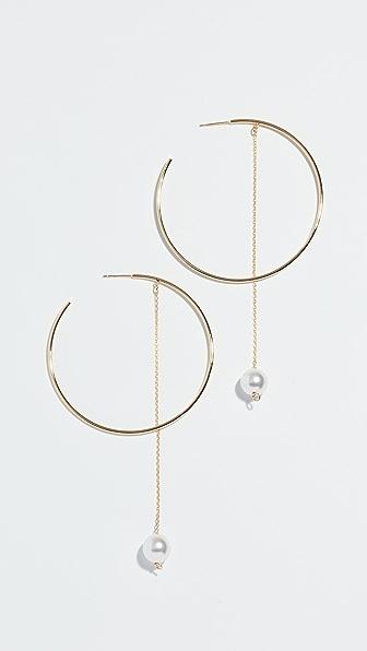 CLOVERPOST Twirl Hoop Earrings in Yellow Gold