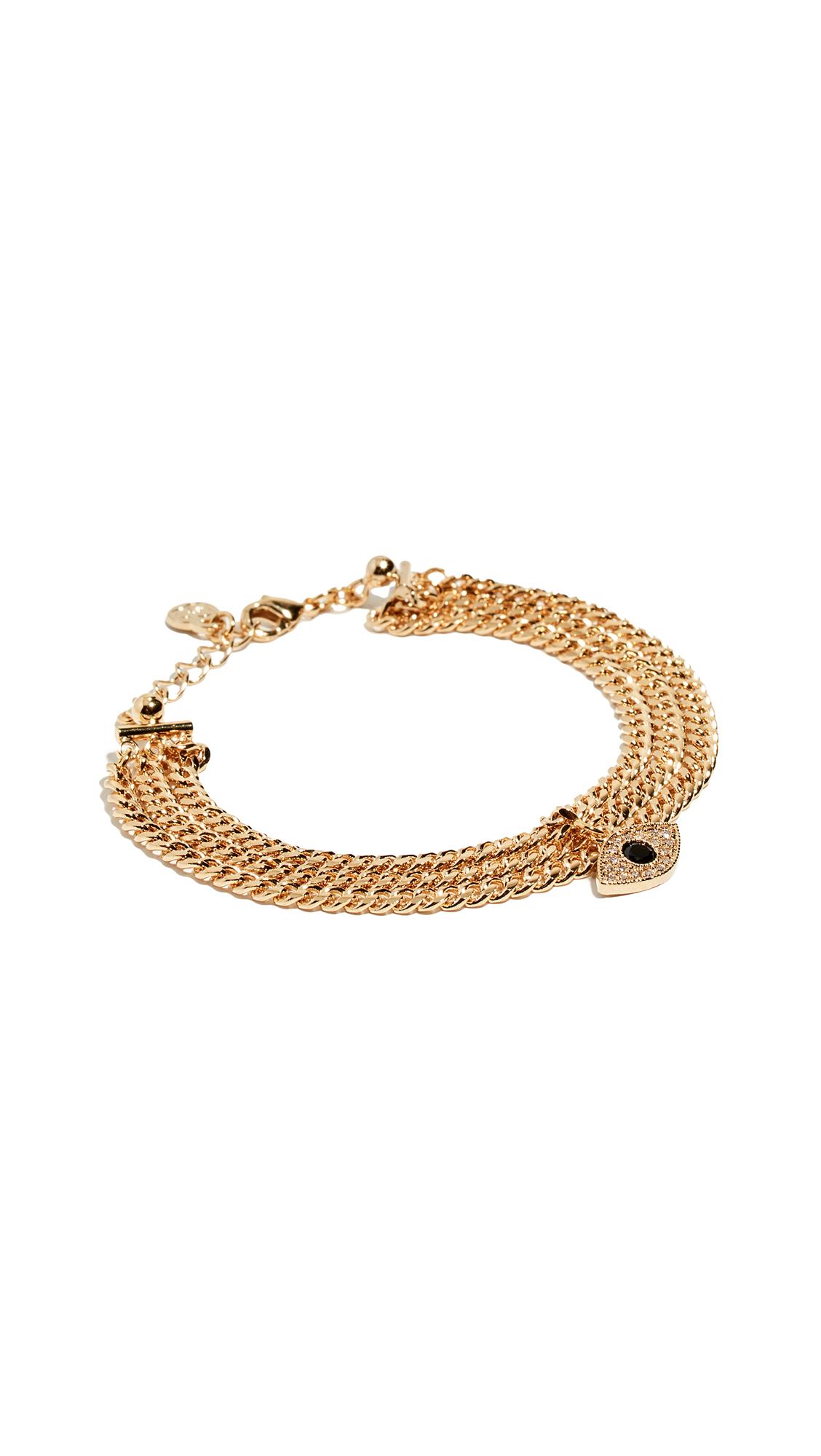 CLOVERPOST Evil Eye Snug Bracelet in Gold