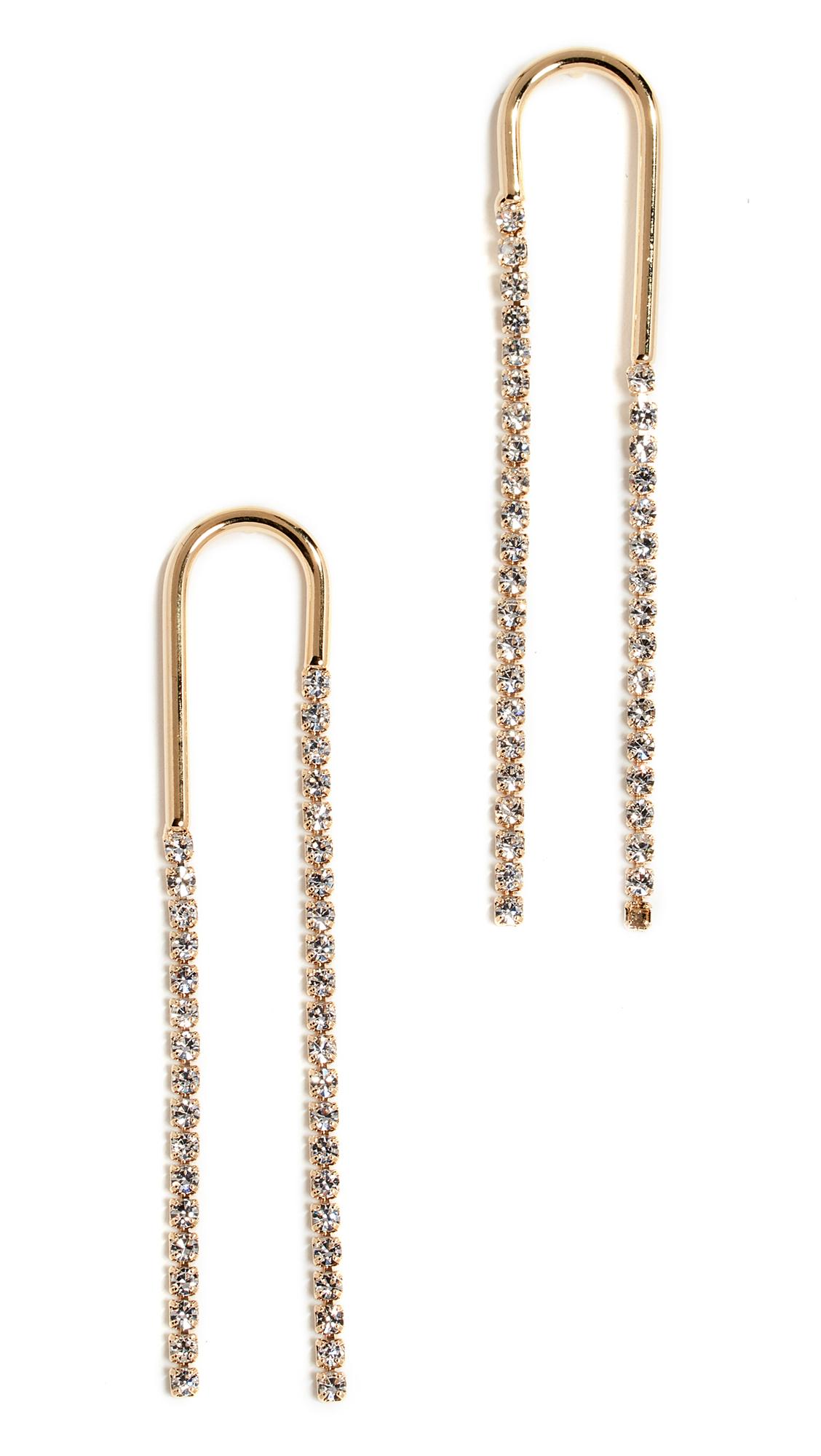 CLOVERPOST Swoop Earrings in Gold