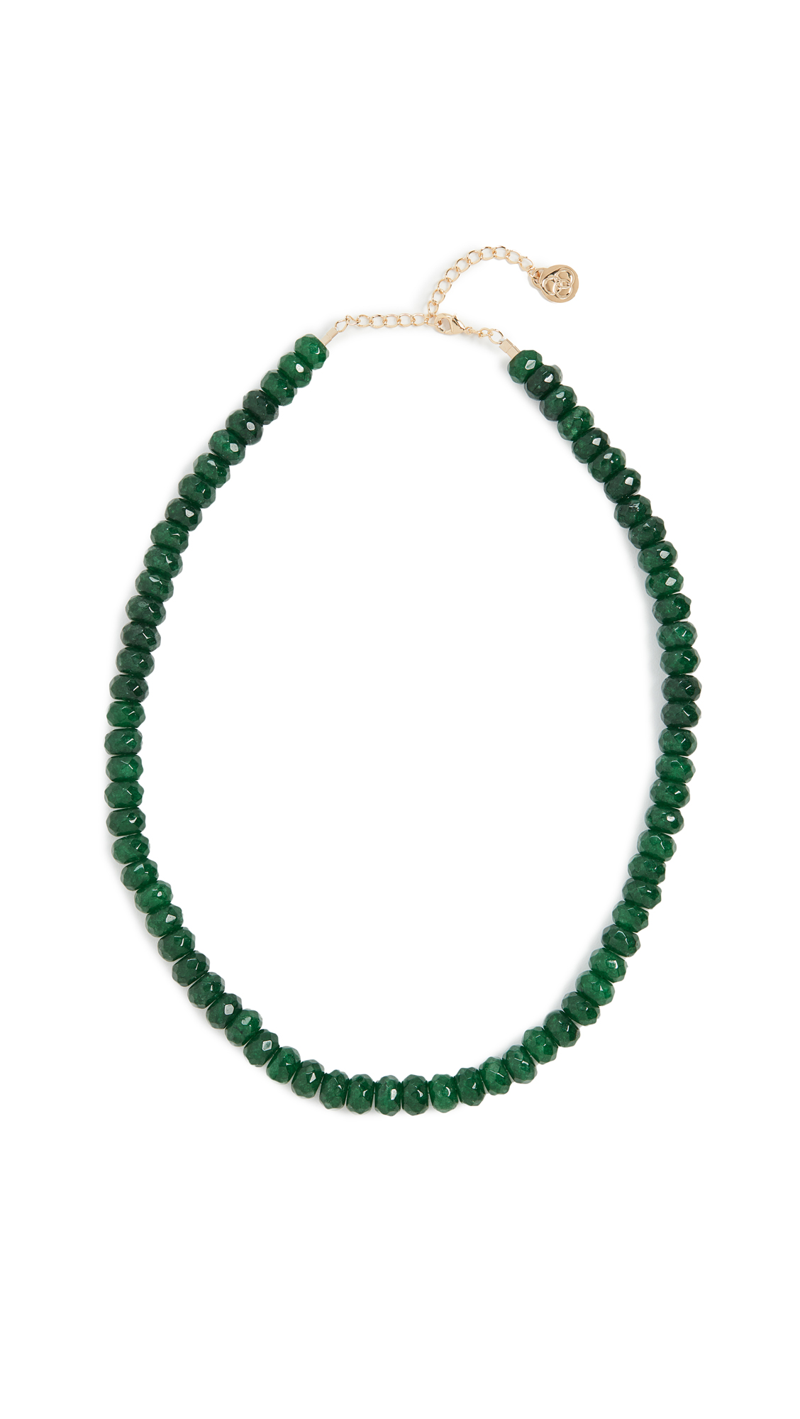 Cloverpost Kingsley Necklace In Forest Green