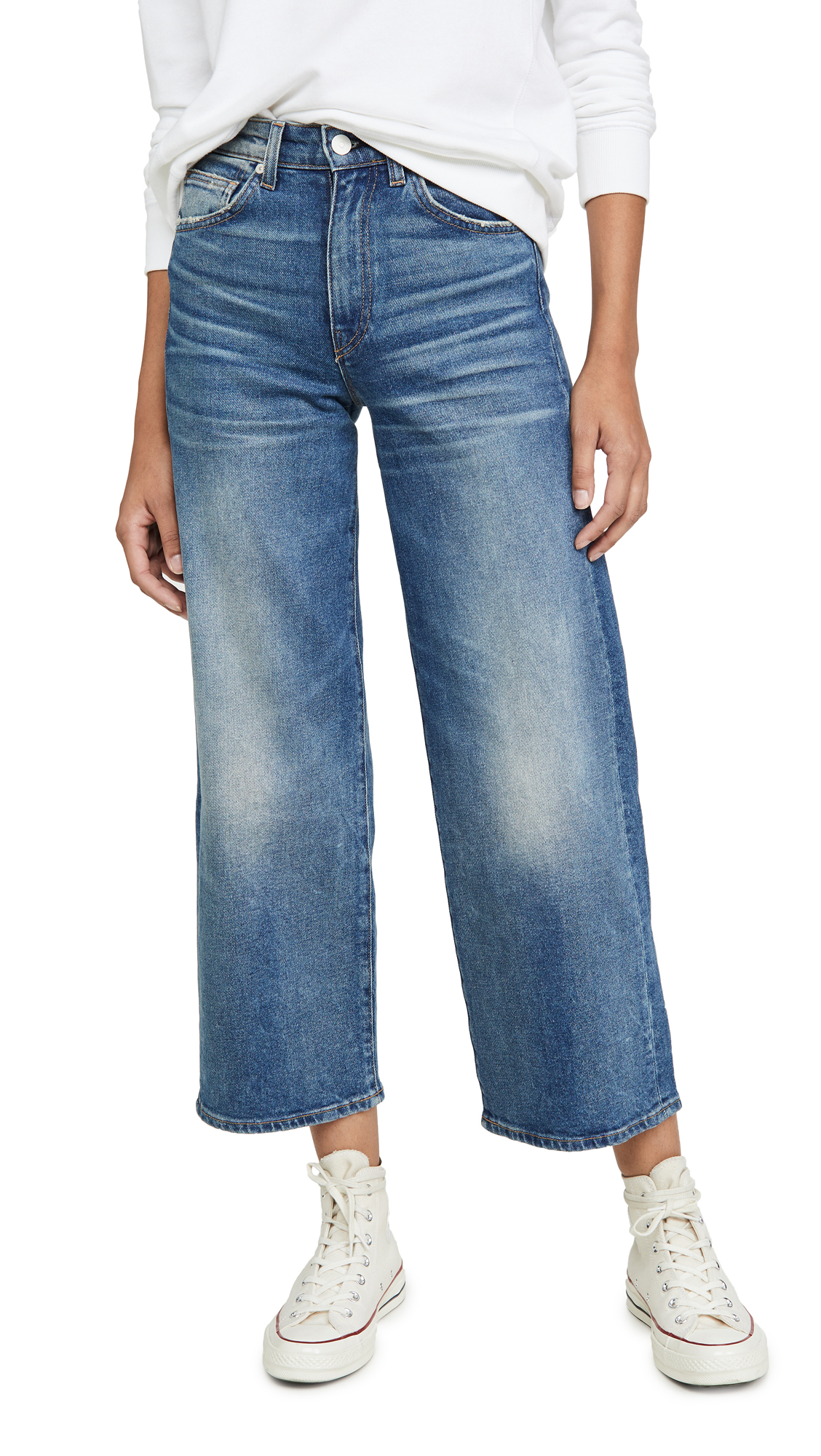 Buy CQY online - photo of CQY Sunday Wide Leg Crop Jeans