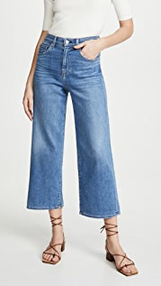 CQY Sunday Wide-Leg Crop Jeans