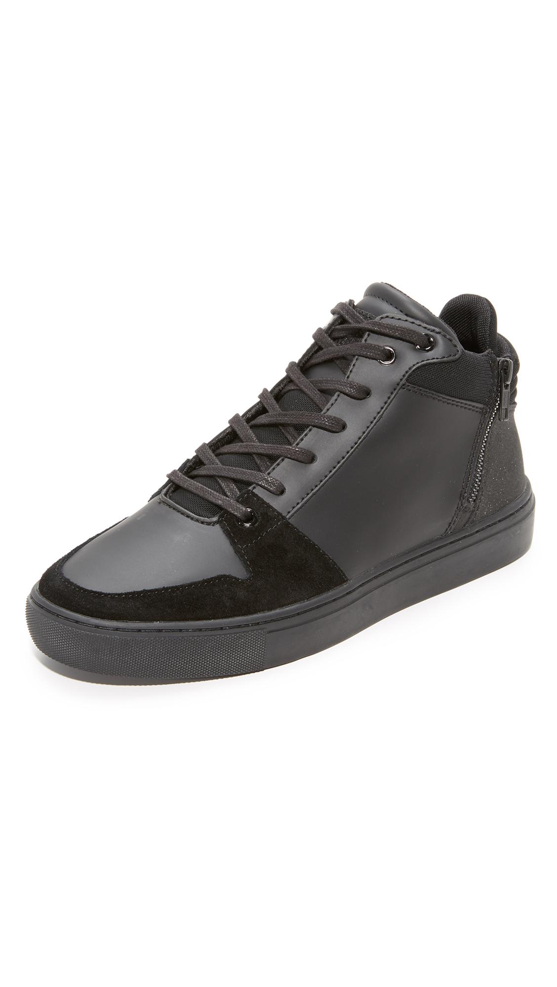 Creative Recreation Modena Zip High Top Sneakers In Black Modesens
