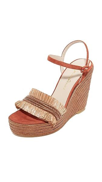 Carmelinas Mia Platform Sandals In Brick