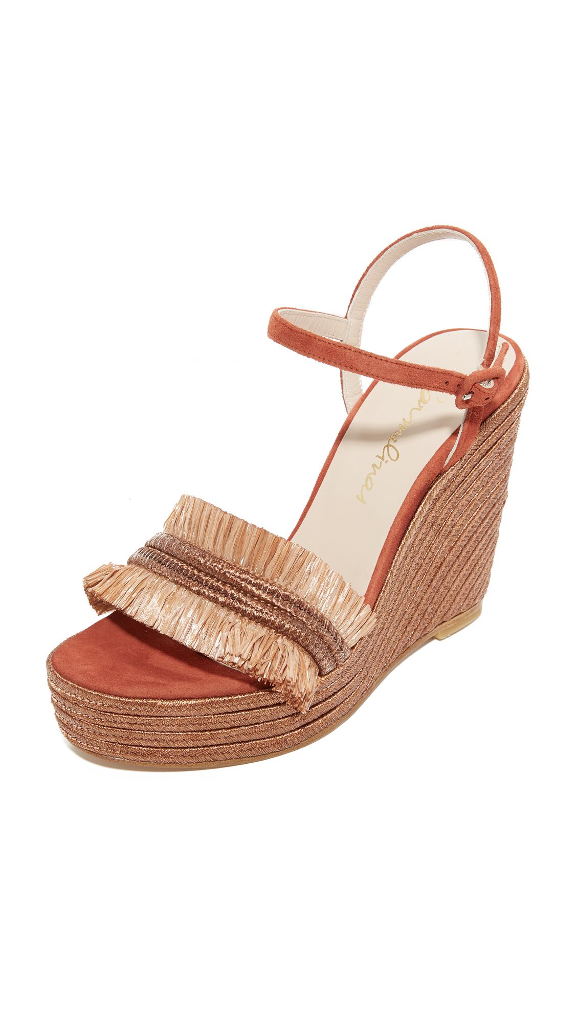 Carmelinas Mia Platform Sandals - Brick