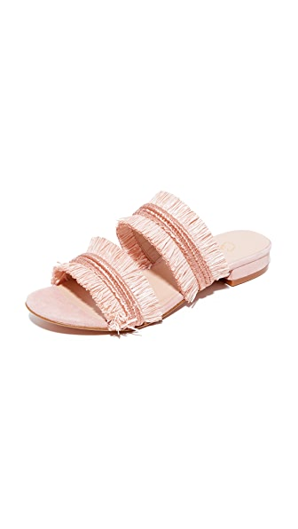 Carmelinas Lulu Two Band Slides In Rose
