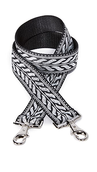 Carrie'd NYC Ariel Slim Guitar Handbag Strap In Silver Multi