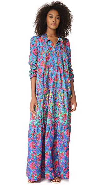 Christophe Sauvat Collection Bogota Degrade Flower Maxi Dress