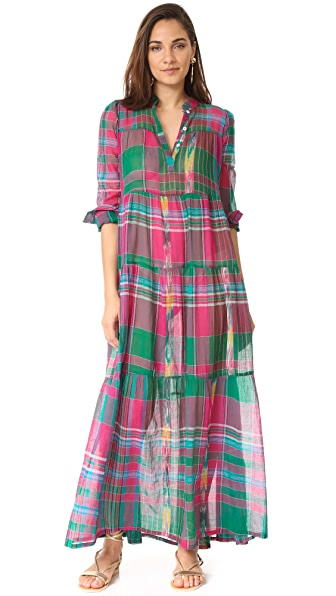 Christophe Sauvat Collection Camy Plaid Maxi Dress