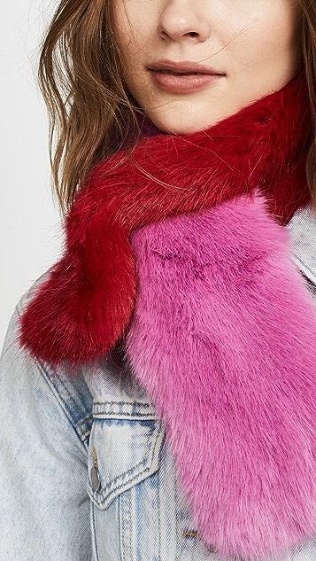 Charlotte Simone Polly Pop Faux Fur Scarf
