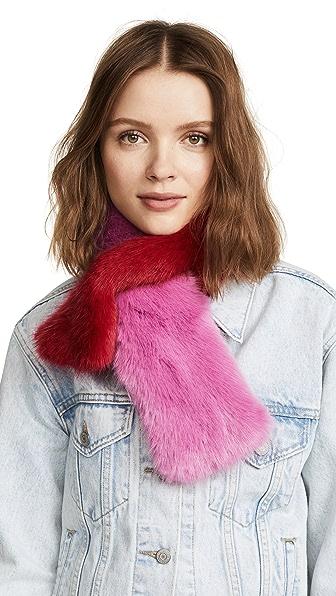 Charlotte Simone Polly Pop Faux Fur Scarf at Shopbop