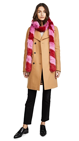 Charlotte Simone Lacey Faux Fur Scarf at Shopbop