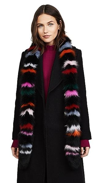 Charlotte Simone Rainbow Twist Fox Fur Scarf at Shopbop