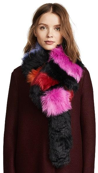Charlotte Simone Faux Fur Popsicle Scarf at Shopbop